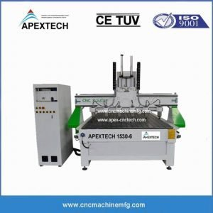1530-6-8 Heads CNC Woodworking Machine for 3D Carving Cutting Machine CNC Router