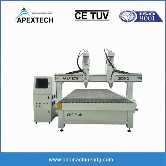 2030 Two Spindle Router Engraving Machine Dual Spindles Wood CNC Machine with 4x8 Table Size for Sale
