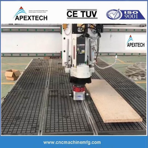 4 Axis CNC wood router with ATC system for multiple hinge routing and facklock side latch drilling side slot milling, drilling on keyhole