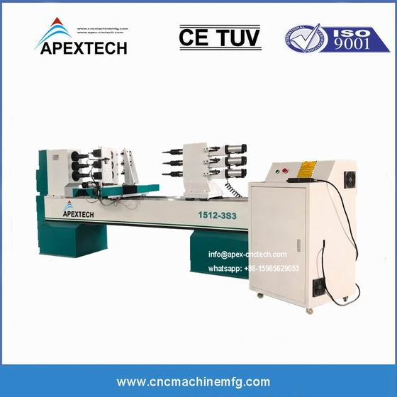 A1512 Wood Turning CNC Lathe Equipment for Milling Slotting Engraving Baseball Bat Cues