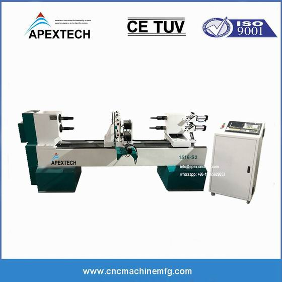 B1516 Industrial Cnc Wood Turning Lathe Machine for Table Legs, Stair Balusters and Spindles Engraving Twisting