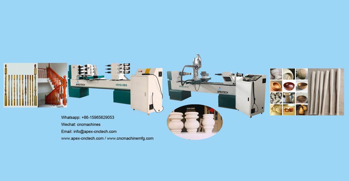 CNC Turning Wood Lathe Machine for sale for Bowls Vases Goblets Cups