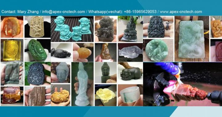 Quartzite Crystal Gem Stone CNC Engraving Machines Equipment made in china