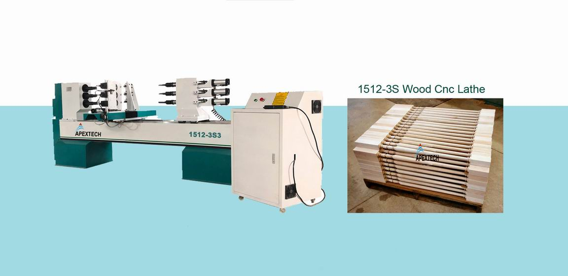 1512 Affordable Price Wood CNC Lathe Machine for Sale