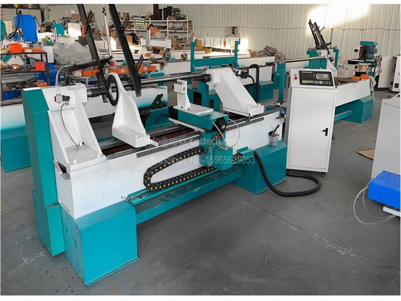 1530 Wood Turning CNC Lathe Machine for Sale with Full Auto Feeding System