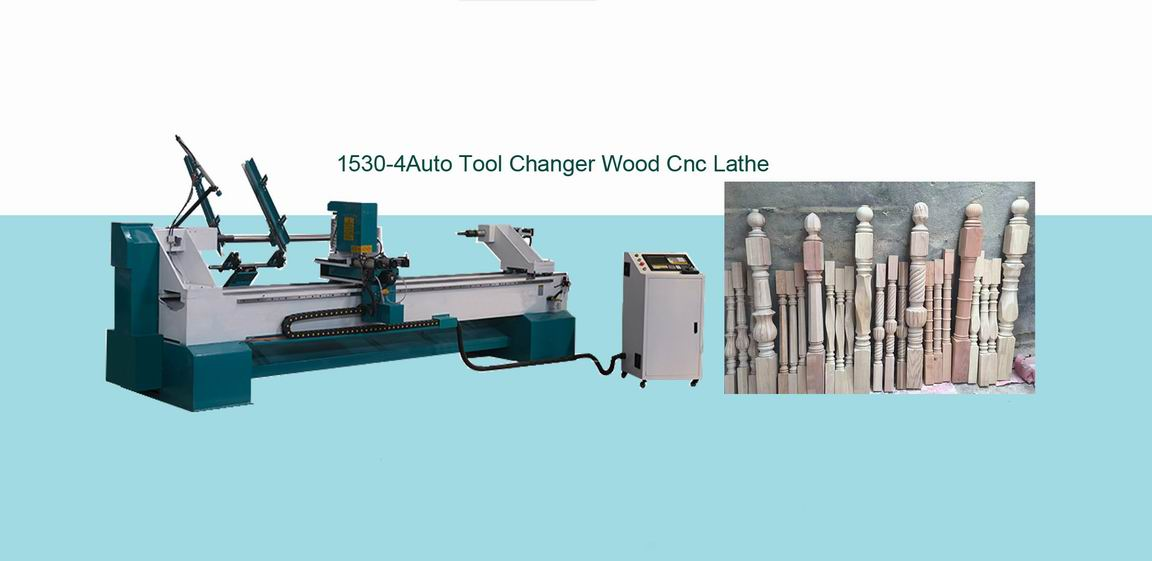 3 Axis CNC Wood Turning Lathe for Custom Wood Staircase