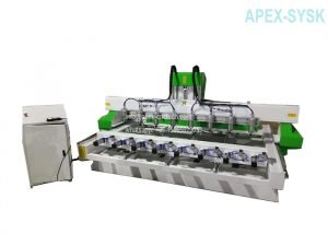 3d cnc router Multi Spindles Woodworking CNC Machine with 4axis
