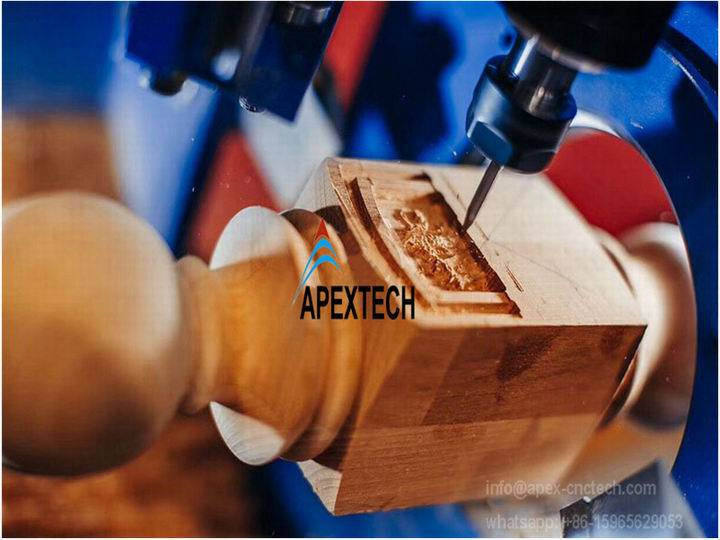 4 Axis CNC Lathe Machine for 3D Turning, Carving and Broaching at low price