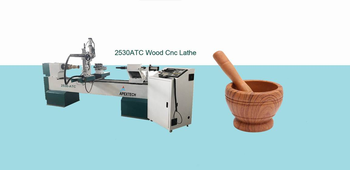 4Axis ATC Wood Turning Lathe Machine with Automatic Tool Changer