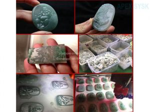AH4030 4Axis Quartzite Crystal jewelry machine cnc milling and jade carver router