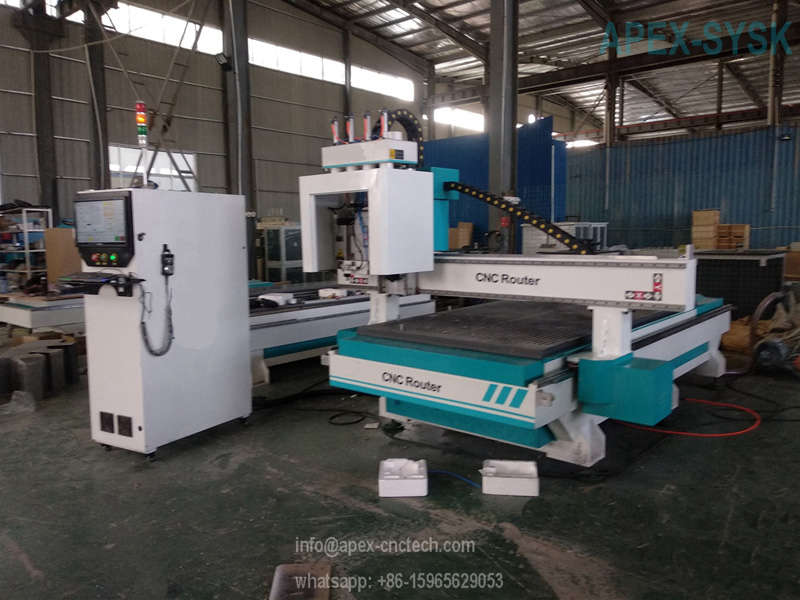 CNC Cabinet door making machine CNC Router Table with Door Keyhole Pneumatic Drill