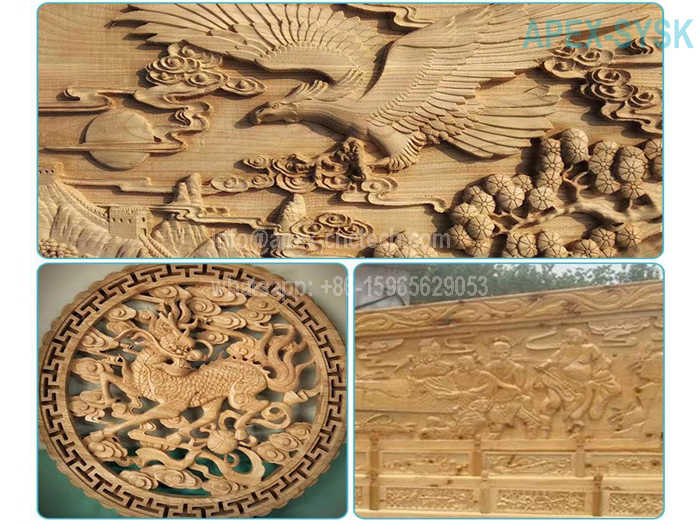 CNC Router Projects CNC Machine for Wood Door Hollow Sculpture Cutting