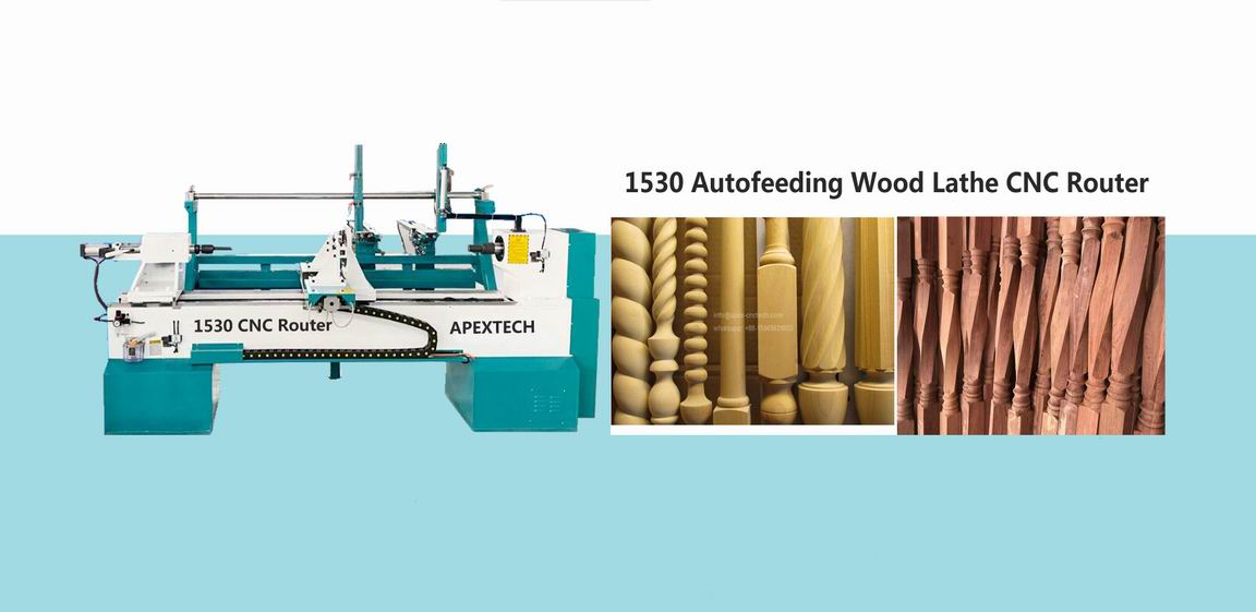 CNC Wood Lathe Machine with Multi-Function Automatic Loading System