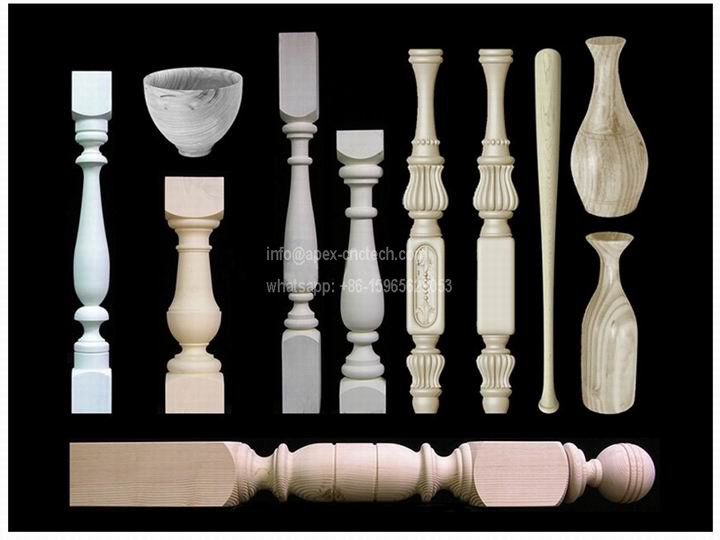 CNC Wood Lathe Turning Stairway Balusters Table Legs Projects