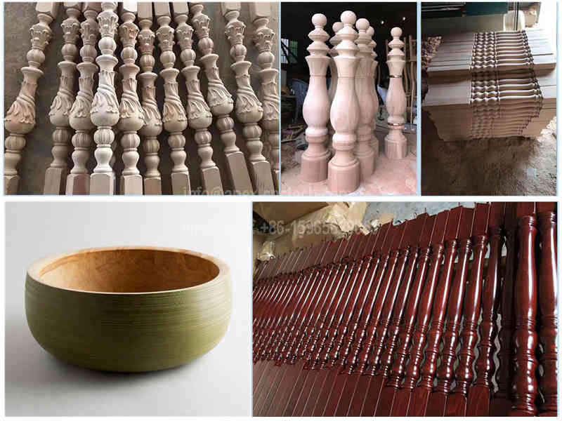 CNC Wood Turning Lathe Machine for handrail, Table Legs, Stair Balusters application projects