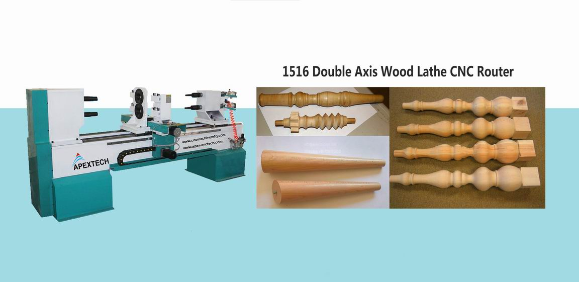 CNC Wood Turning Lathe Machines for handrail, Table Legs, Stair Balusters and baseball bats