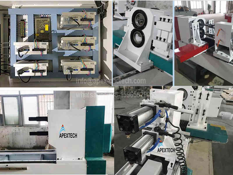 China CNC Wood Turning Lathe Machine for handrail, Table Legs, Stair Balusters and baseball bats