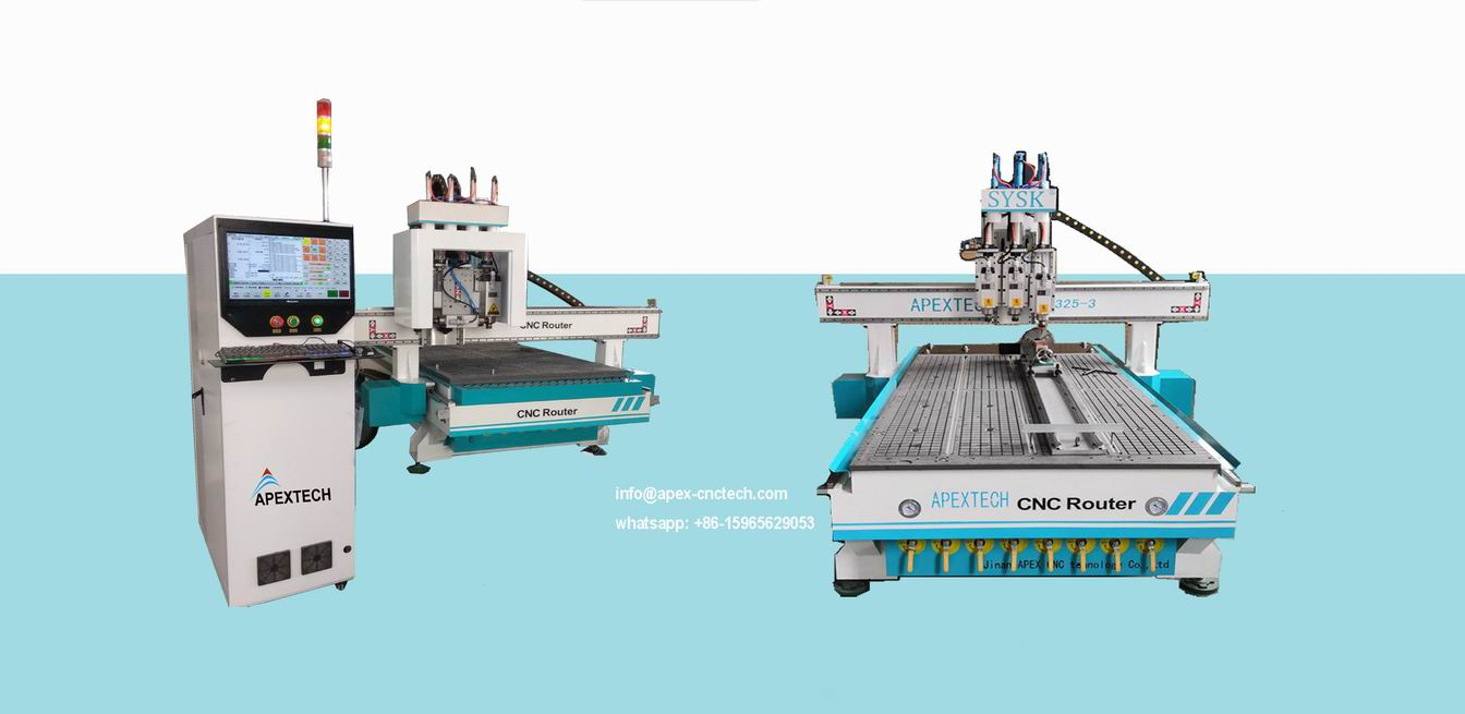 Industrial Quality CNC Router Table with Door Keyhole Pneumatic Drill