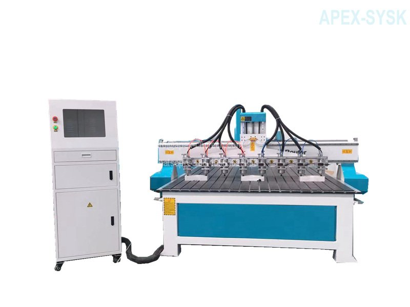 Multi Spindles Synchronized Type Woodworking Machine with 8 Spindles