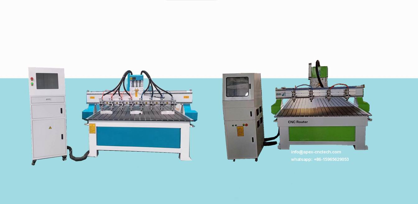 Multi Spindles Woodworking CNC carving Machine with 8 Spindles