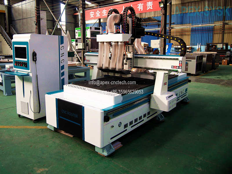 Multi-head CNC Router Machine With 12 Pneumatic Tool Change