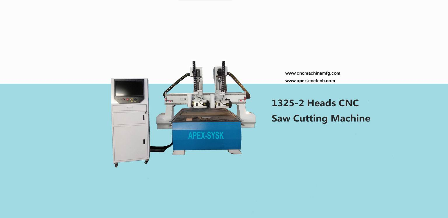 Multi-head CNC Router for Wood Cutting Machine