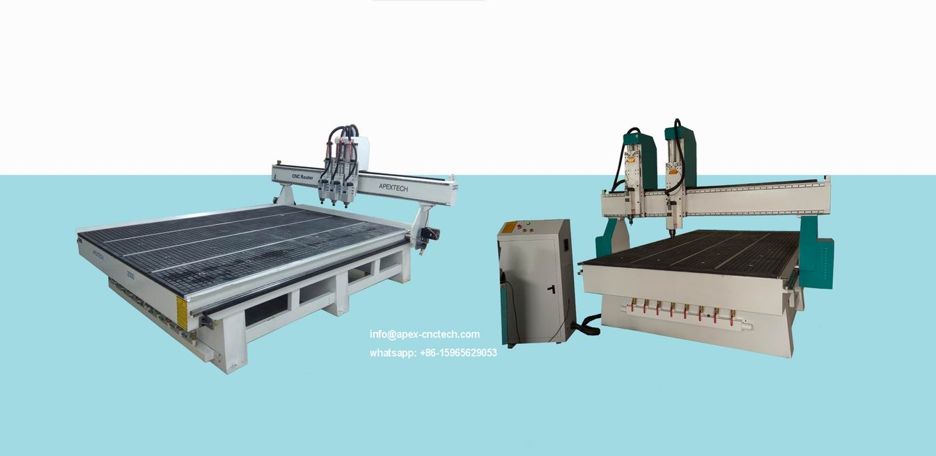 Multi-head CNC Router with 3 Spindles