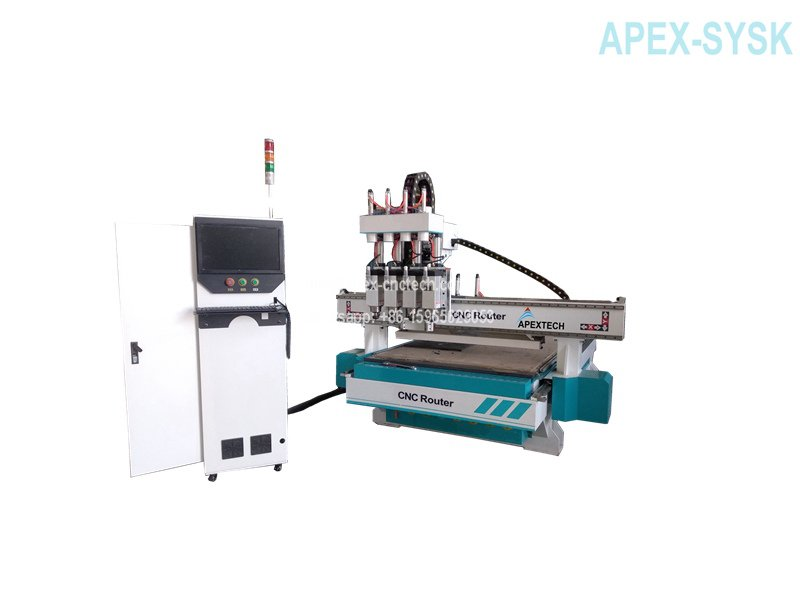 Synchronized Multi-Spindle Type CNC Router Machine for Woodworking