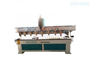 Synchronized Multi Spindles Woodworking CNC Machine with 8 Spindles