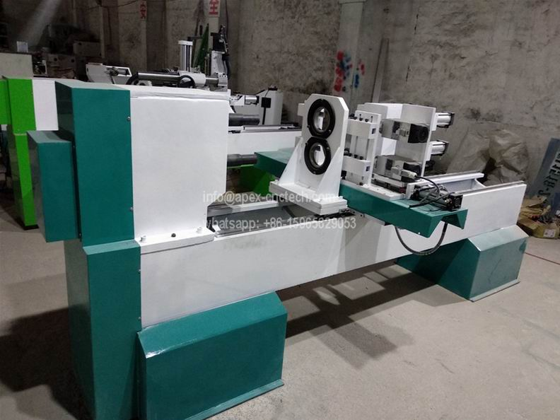 Two Axis Automatic CNC Wood Lathe Machine for Table Legs