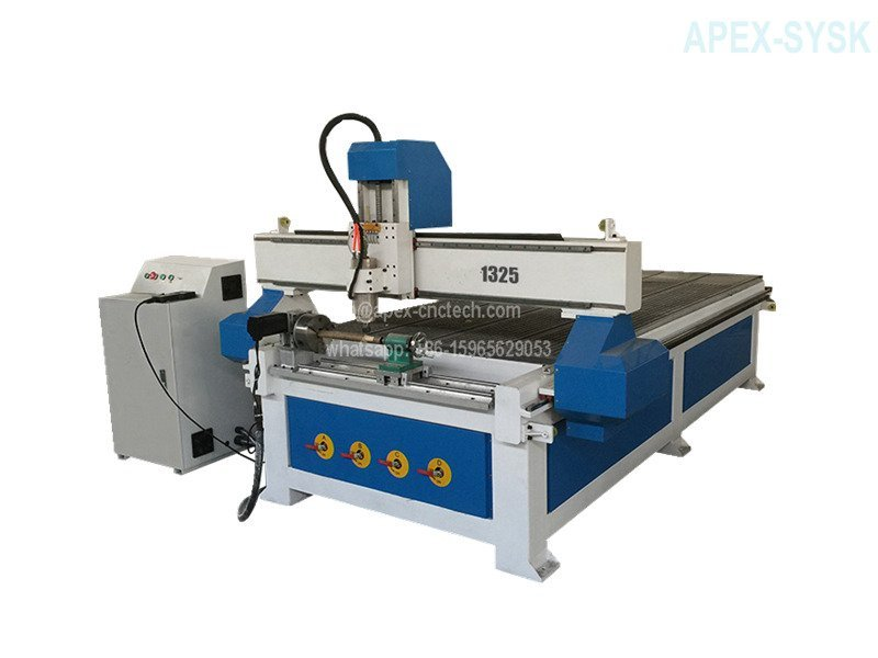 Wood CNC Machine with Rotary Axis CNC Router