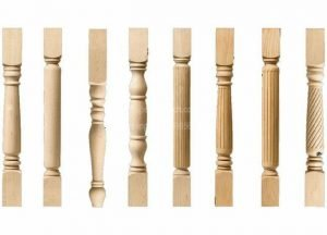 woode coloums samples CNC Wood Lathe Turning Staircase Pillar Projects