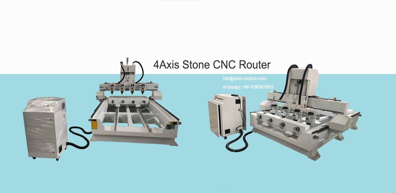 4axis stone cnc router machine engraving