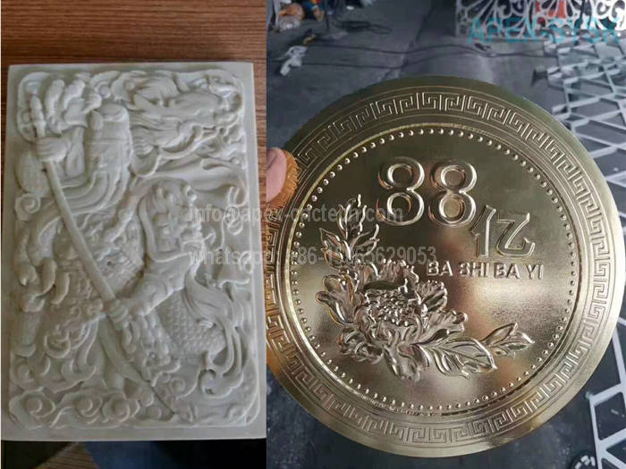 CNC metal cutting Machine - Stone Engraving and 3D Writing Samples