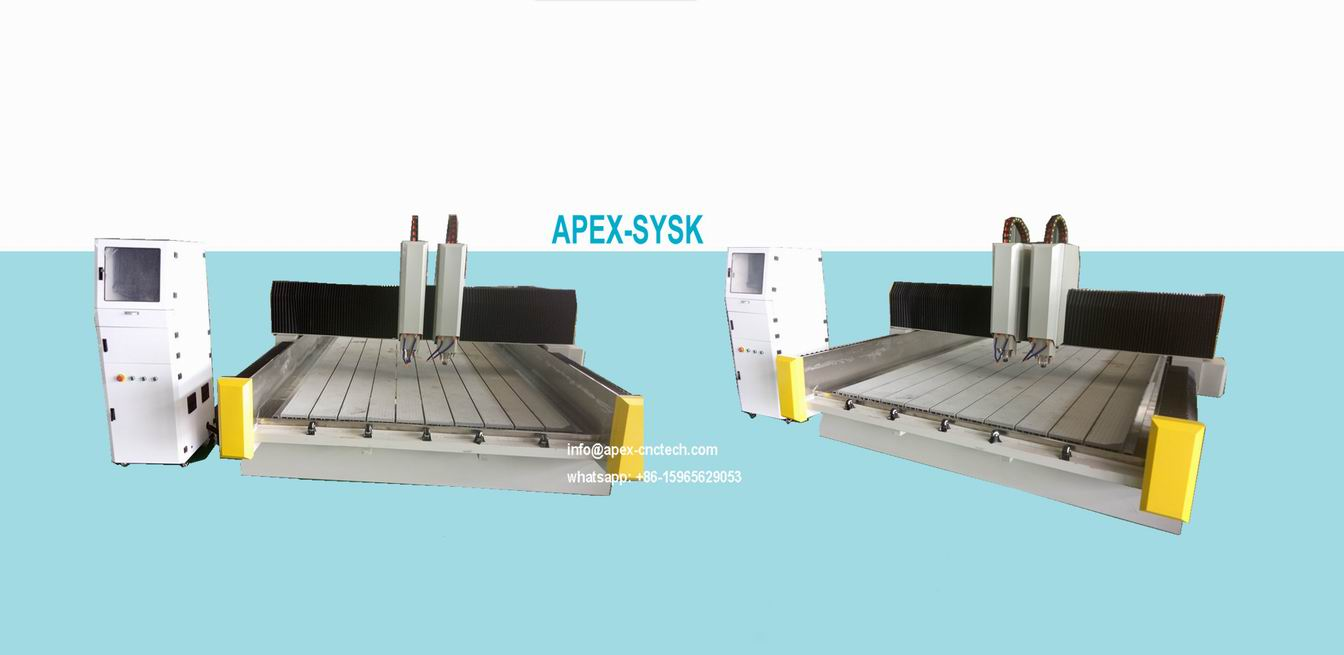 multi-head spindle stone cnc router machine